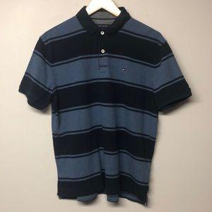 Tommy Hilfiger Stripe Cotton Collar T-Shirt